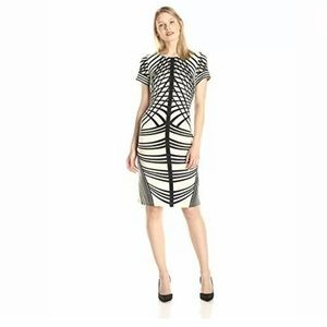 Gabby Skye Women's Striped Sheath Dress